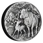2 $ Dollar Lunar III Year of Ox Ochse High Relief Australien 2 oz Silber Antique Finish 2021 **