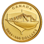 100 $ Dollar 100 Jahre - 100th Anniversary of Bluenose Kanada 1/4 oz Gold PP 2021