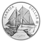 1 $ Proof Silver Dollar 100 Jahre - 100th Anniversary of Bluenose Kanada Silber PP 2021 **