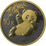 10 Yuan Golden Ring Edition - Panda China 30 Gramm Silber 2020 **