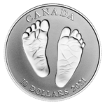 10 $ Dollar Welcome to the World Born in 2021 Kanada 1/2 oz Silber PP 2021 **