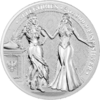 10 Mark The Allegories Italia & Germania 2 oz Silber BU 2020 **
