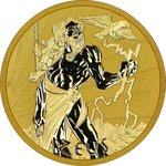 100 $ Dollar Gods of Olympus - Zeus Tuvalu 1 oz Gold 2021