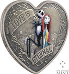 2 $ Dollar Disney – The Nightmare Before Christmas - Love is Eternal Niue Island 1 oz Silber 2021 **