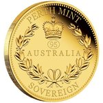 "25 $ Dollar Australian Sovereign Privy Mark ""95"" Australien Gold PP 2021"