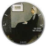 1 $ Dollar American Silver Eagle Liberty - Whistler's Mother Painting USA 1 oz Silber 2020