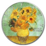 1 $ Dollar American Silver Eagle Liberty - Vincent van Gogh - Sunflowers USA 1 oz Silber 2020