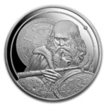 5 $ Dollar Icons of Inspiration - Galileo Galilei Silver Proof Niue Island 1 oz Silber PP 2021 **