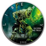 1 $ Dollar American Silver Eagle Liberty - Green Mummy - Grüne Mumie USA 1 oz Silber 2020