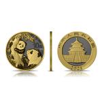 10 Yuan Golden Ring Edition - Panda China 30 Gramm Silber 2021 **