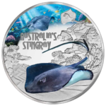 1 $ Dollar Deadly & Dangerous Stingray - Stachelrochen Tuvalu 1 oz Silber PP 2021 **