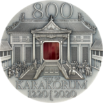 5000 Togrog 800th Anniversary - 800 Jahre Karakorum Ultra High Relief Mongolei 2 oz Silber 2020 **