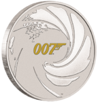1 $ Dollar James Bond - 007 - Tuvalu 1 oz Silber BU 2021 **