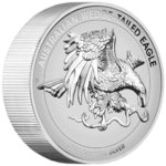 8 $ Dollar Wedge-Tailed Eagle Keilschwanzadler High Relief Australien 5 oz Silber Enhanced 2021 **