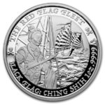 1 $ Dollar Black Flag - Piratenschiff Serie - The Red Flag Fleet Tuvalu 1 oz Silber BU 2021 **