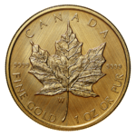 "50 $ Dollar Maple Leaf Mint Mark ""W"" - Winnipeg Kanada 1 oz Gold PP 2021"
