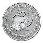 2 $ Dollar Feng Shui - Celestial Animals - The Black Turtle Niue Island 1 oz Silber 2021 **