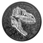 20 $ Dollar Discovering Dinosaurs - Reaper of Death Kanada 1 oz Silber + Rhodium 2021 **