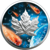 5 $ Dollar Glowing Galaxy Edition III Maple Leaf Kanada 1 oz Silber 2021 **